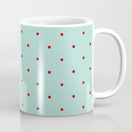Blue with Red Dots Coffee Mug
