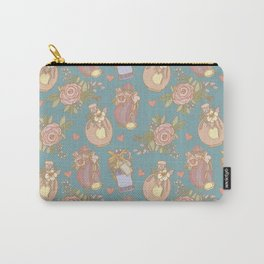 Vintage background with perfume bottles Carry-All Pouch