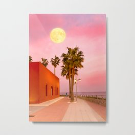 Super Moon At Sunset Metal Print