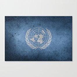 Grunge United Nations flag Canvas Print