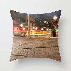 Downtown Blacksburg Christmas Throw Pillow