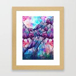 Colour tone peaks Framed Art Print