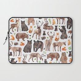 Woodland Animals Laptop Sleeve