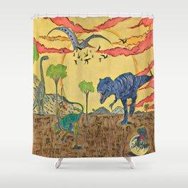 Prehistoric Shower Curtain