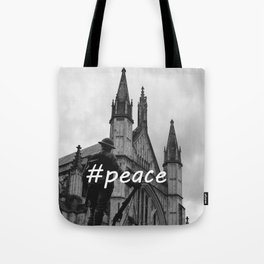 Soldier and cathedral Tote Bag