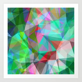 green crystal depth Art Print