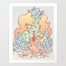 nom nom Art Print