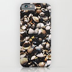 Mussels and Seashells Pattern Slim Case iPhone 6s