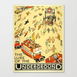 Vintage poster - London Underground Canvas Print