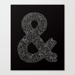 Everything & Nothing (Black) Canvas Print