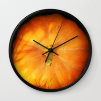 pumpkin Wall Clocks featuring Pumpkin ^_^ by Julia Kovtunyak