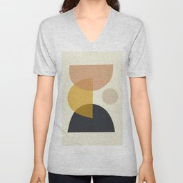 Minimalist Abstract 35 Unisex V-Neck