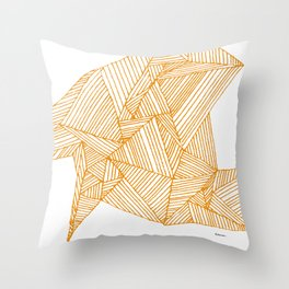 Lines on Napkin Throw Pillow
