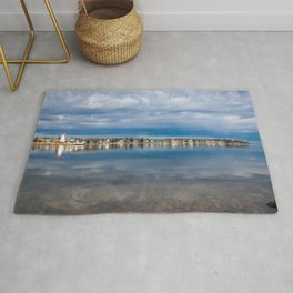 lighthouse reflections Rug