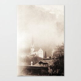 Foggy Oetz Canvas Print