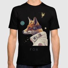 Star Team - Fox Mens Fitted Tee MEDIUM Black