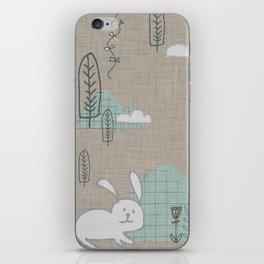 Cute Bunny woodland #nursery #homedecor iPhone Skin