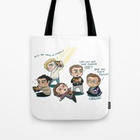 louis armstrong Tote Bags featuring LouIS by Cyrilliart