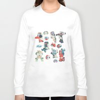 transformer Long Sleeve T-shirts featuring Minibots by confinedclone