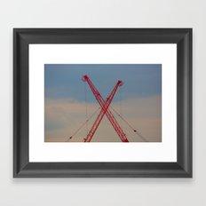 Cranes In Love Framed Art Print