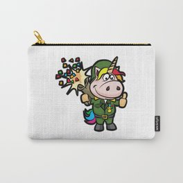 UNICORN BAZOOKA Party Military Army Birthday Carry-All Pouch