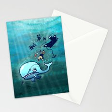 Whales are Furious! Stationery Cards