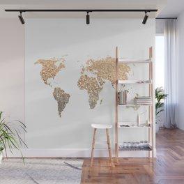 GOLD WORLD MAP Wall Mural