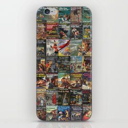 Vintage childrens' mystery series books iPhone Skin