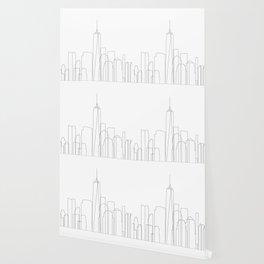 New York City Skyline Outline Wallpaper