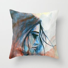 Red & Blue Throw Pillow