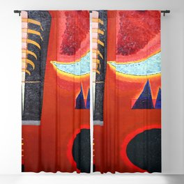 Wassily Kandinsky Lost in Red Blackout Curtain