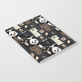 Bears of the world pattern Notebook