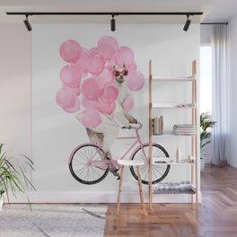 Riding Llama with Pink Balloons #1 Wall Mural