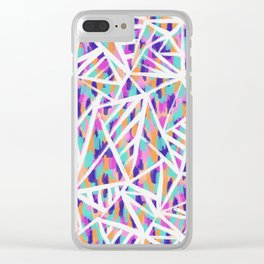 Justine Abstract Clear iPhone Case