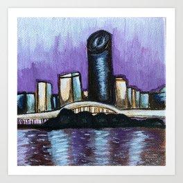 Brisbane City River Art Print