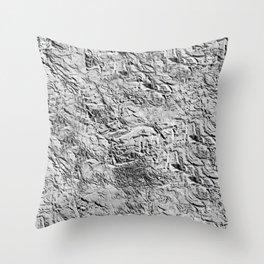 Textured White Throw Pillow