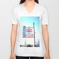 lamb V-neck T-shirts featuring LAMB by Alissa Fleck