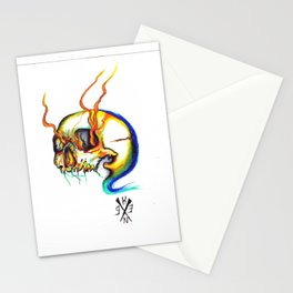 colourd skull Stationery Cards