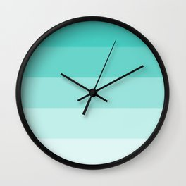 Shades of Turquoise Blue Wall Clock