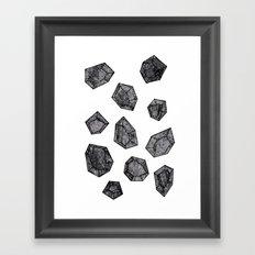 Black Diamonds Framed Art Print