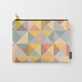 Earthy Pastel Triangles Carry-All Pouch