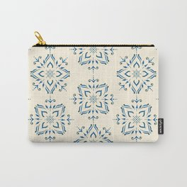 Portuguese tile style ornamental pattern - blue on cream Carry-All Pouch