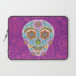 Flower Power Skully Laptop Sleeve