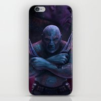 thanos iPhone & iPod Skins featuring Drax and Thanos by Jaime Gervais