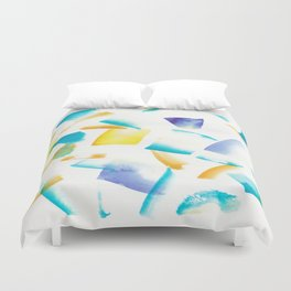 180719 Koh-I-Noor Watercolour Abstract 38   Watercolor Brush Strokes Duvet Cover