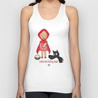 red riding hood Tank Tops featuring Little Red Riding hood by MyimagesArt