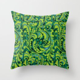 Verdant Victorian Vegetation Throw Pillow