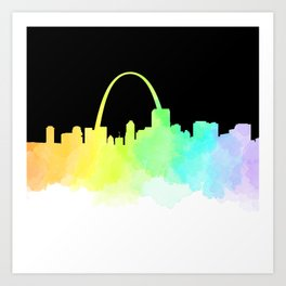 St. Louis Skyline Art Print