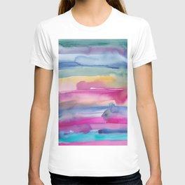 32    190907   Watercolor Abstract Painting T-shirt