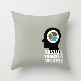 sustain yourself society Throw Pillow